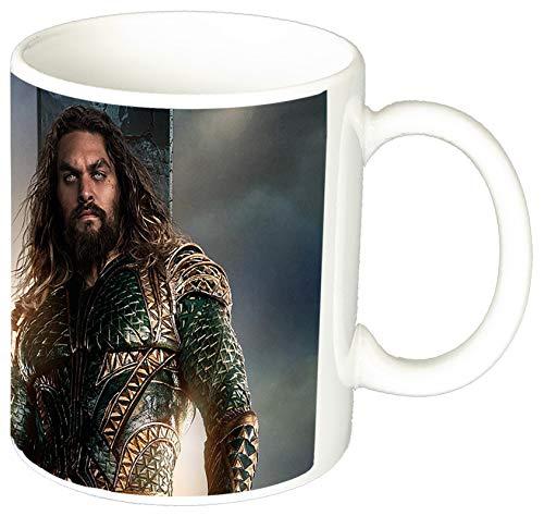 La Liga De La Justicia Justice League Aquaman Jason Momoa Taza Ceramica 11 oz ≈ 325 ml