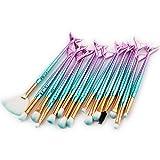 Set de Brochas de Maquillaje Profesional Cepillos de Maquillaje para las Facial y Cejas y Labios por ESAILQ K