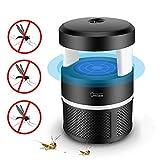 Moustique Tueur Lampe, Bug Zapper Lampe LED électronique Mosquito Tueur Intérieur Moustique Piège inhalé Mosquito Fly Trap Killer USB, Pas de Produits Chimiques (Noir)