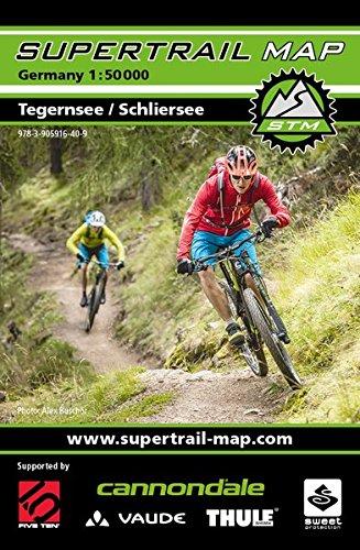 Supertrail Map Tegernsee / Schliersee: Maßstab 1:50 000