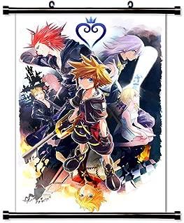"Kingdom Hearts Anime Silk Fabric Poster Wall Scroll 13x20 24x36/"" 003"