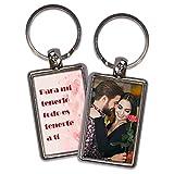 Llavero Parejas Personalizado con Foto. Regalos San Valentin Personalizados. Llaveros Personalizados 2 Caras. Varias Diseños. Corazones
