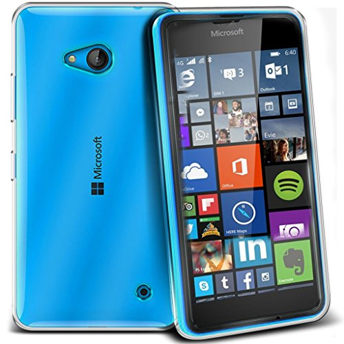 Clear Gel Skin Cover Case (Flexible and Durable) for the Microsoft Lumia 640 LTE by Digi Pig by Digi Pig
