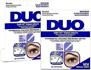 Duo Quick-Set False Strip Lash Adhesive Dark, Dries Dark 0.18 oz x 2 pack