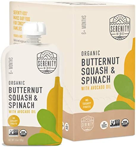 Serenity Kids Baby Food Organic Butternut Squash and Spinach with Avocado Oil For 6 Months 3 product image
