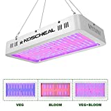KOSCHEAL 2000W LED Plant Grow Light, Advanced Full Spectrum, 596PCS LEDs, Red Blue Lights with 1PCS UV&IR, VEG BLOOM Double Switch, Daisy Chain Function, for Indoor Plants Seedling, Blooming&Fruiting