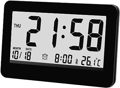 Reloj Despertador Multifunción, Termómetro De Pantalla Grande, Simple, Dormitorio En La Cama,