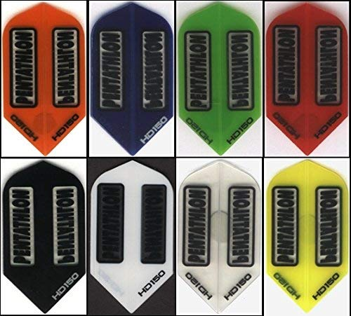 Pentathlon 10Stück Fünfkampf HD150- Dart Flights: Slim 150Mikron Dick: 10Sets