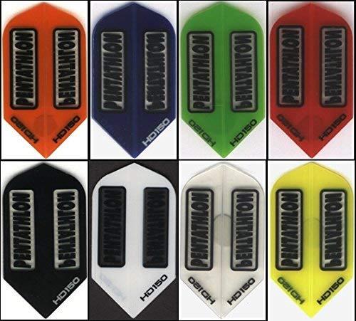 10 Pack of PENTATHLON HD150 Dart Flights: Slim 150...