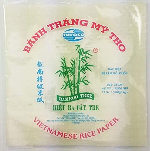 Eckig Vietnamesisch Reispapier 22cm 340g Frühlingssalat Sommer Rolle Verpackung Banh Trang Eßbar Nahrung Kochen Prepare Party
