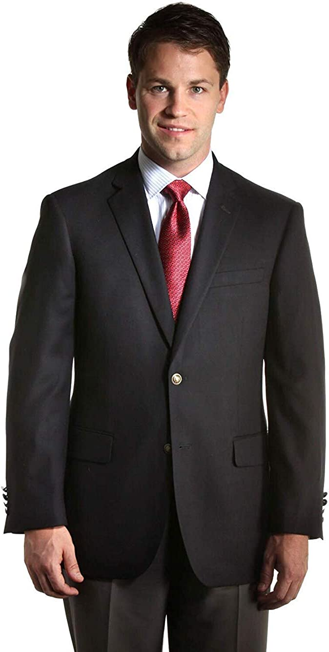 Big and Tall Black Premium All Wool Classic Blazer to Size 72 in Portly, Regular, Short, Long, and Extra Long Sizes (58 Long)