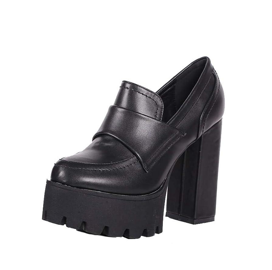 手つかずの嬉しいです転倒ハイヒール 黒 チャンキーヒール パンプス 痛くない 脱げない パンプス 結婚式 靴 レディース 厚底 パンプス マニッシュ ヒール12cm 12センチ ヒール ブラック パンプス おじ靴 小さいサイズ ドレス キャバ パーティー
