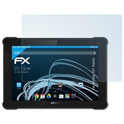 atFolix Schutzfolie kompatibel mit Archos 101 Saphir Folie, ultraklare FX Bildschirmschutzfolie (2X)