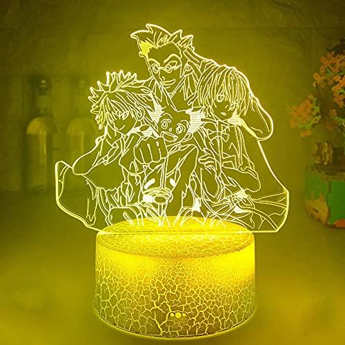 Lámpara de ilusión 3D, luz de noche LED, último sensor táctil Hunter X Hunter, colorido para decoración de niños, regalos de cumpleaños para niño