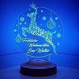 Weihnachtsgeschenke Nachttischlampe Personalisierbar Silvester deko mit eigenem Text in 3D