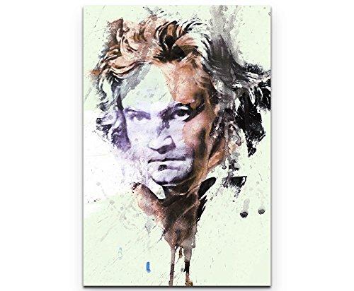Paul Sinus Art Ludwig Van Beethoven I 90x60cm auf Leinwand gespannt fertig zum aufhängen