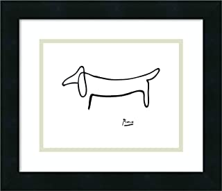 Framed Wall Art Print Le Chien (The Dog) by Pablo Picasso 16.00 x 13.75