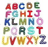 Bunte magnetische Holzalphabetbuchstaben 26 St. Entwickeln Sie Intelligenz- und Lese- und Schreibfähigkeiten zum Lernen, Rechtschreiben und Zählen