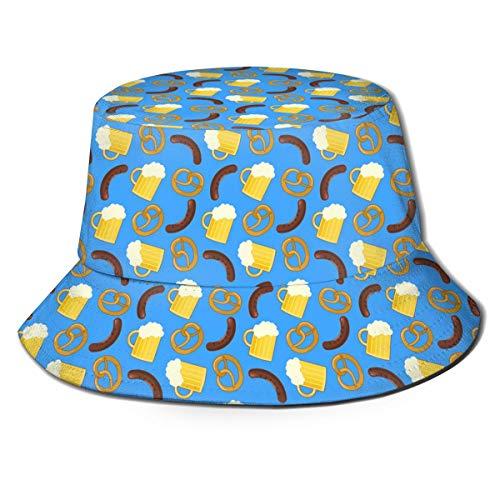 Funny Z Unisex Bucket Hat Schöne Bunte Bier Gedruckt Sonnenschirm Fischermütze