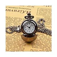 クラシックでスタイリッシュな懐中時計。懐中時計、産業用レトロ球形クォーツ懐中時計、ヨーロッパとアメリカの古典的なファッションの男性と女性の個性小さなペンダント、誕生日、ホリデーギフト