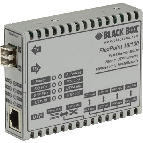 Lowest Prices! Black Box Corporation Modular Media Converter 10BT/100BASETX to 100BASE-FX MM LC
