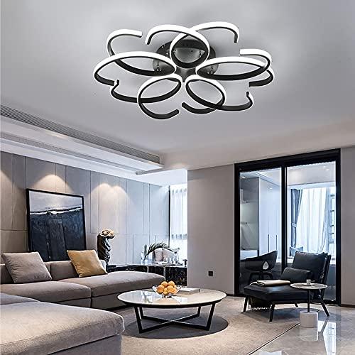 Grande Plafon Led Techo Lampara De Techo Moderna Regulable Iluminación Y Mando...