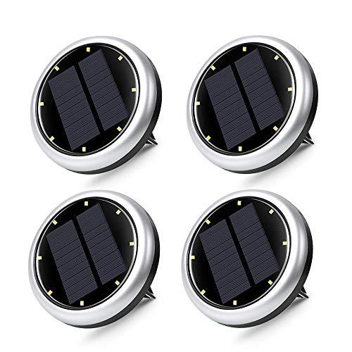 Innoo Tech Solar Bodenleuchten aussen 4pcs, 8 LEDs Solarleuchten Solarlampen Gartenleuchten für Außen garten, IP65 Wasserdicht für Rasen/Patio/Hof, keine Schrauben freigelegt