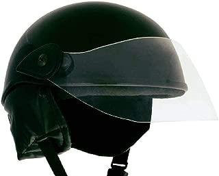 Aayat Collection Half Helmet both Men,Women (Black Glossy)