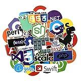 Pegatinas 73pcs/Set Internet Java Graffiti Stickers JS PHP HTML Cloud Docker Bitcoin Logotipo De Lenguaje De Programación para Portátil Equipaje Notebook