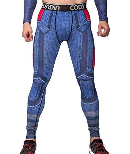 Cody Lundin Herren Amerika führend Held gedruckt Fitness Laufen Leggins männliche Partei Lange Sport Hosen (XL)