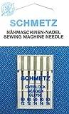 SCHMETZ Surtido de 5 agujas para máquina de coser Overlock Serger (pistón plano) ELx705,...