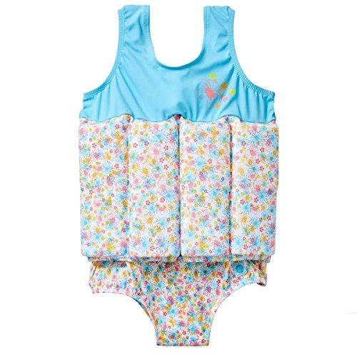 Splash About Costume Galleggiante con galleggiabilità Regolabile, Bambini, Blu (Flora Bimbi), 2-4 Anni