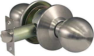 Global Door Controls Commercial Passage Ball Knob in Brushed Chrome