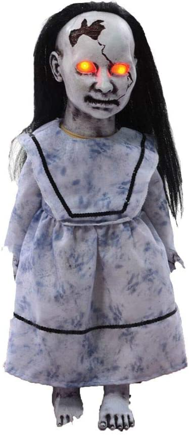 Lunging Graveyard Baby Animated Prop Broken Doll Zombie Halloween Haunted House