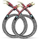 Cable de Altavoces con plátano a 2.0 Pin para el Amplificador de Cine en casa Sistema de Sonido Envolvente OFC Cable de Audio 1m 2m 3m 5m 8m (Color : Banana 2.0 White, Length : 3meter)