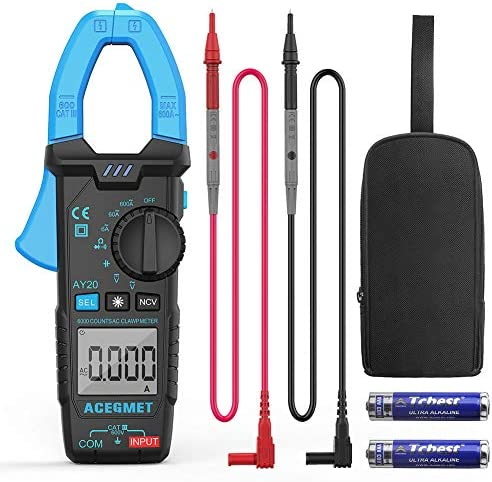 ACEGMET Digital Clamp Meter Measured for AC Current 600A Clamp Multimeter 6000 Counts NCV Function product image