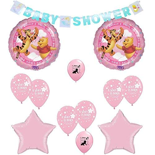 Amazon.com Winnie the Pooh Its A Girl Baby Shower Balloons