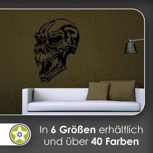 Terminator Schädel Wandtattoo in 6 Größen - Wandaufkleber Wall Sticker