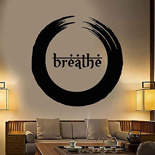 Relovsk Muurstickers voor thuis, Enso Boeddhisme, respiro, yoga, meditatie, gezondheid vinyl, wandsticker, decoratie voor thuis, kunst 57x57 CM Koffie.