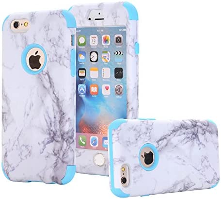 iPhone 6s Case iPhone 6 Case Ankoe White Marble Stone Pattern Shockproof Full Body Protective product image