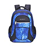 Galaxy Backpack for Little Kids, Boys by Fenrici, 16.1 Inch Durable Book Bags for Preschool, Kindergarten Students