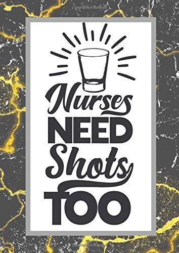 Nurses need shots too: dein Terminkalender Planer für das Jahr 2020 im groß Format | Wochenplaner für 52 Wochen | Schwarz Weisses Marmor Design