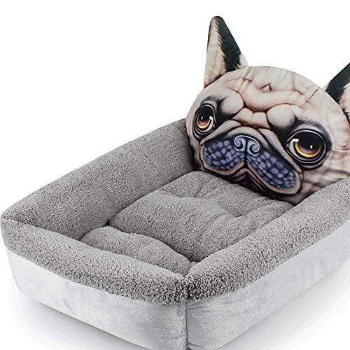 XHAEJ Cama para mascotas | Piel sintética corregida de felpa y gamuza, sofá tradicional para la sala de estar o casa para mascotas o perros pequeños y gatos, (Color: B)