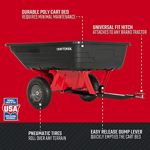 Craftsman CMX-GZ-BF-71-24489 10-cu ft Poly Dump Cart, One Size, Red