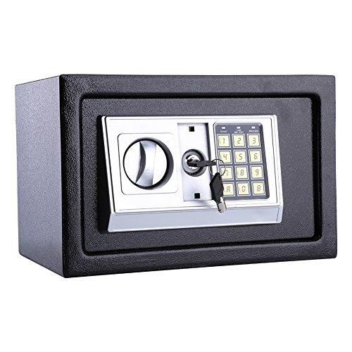 Contraseña electrónica segura, 8.5L 4mm puerta delantera caja fuerte con cerradura de combinación, bisagras a prueba de manipulaciones para la llave de la joyería