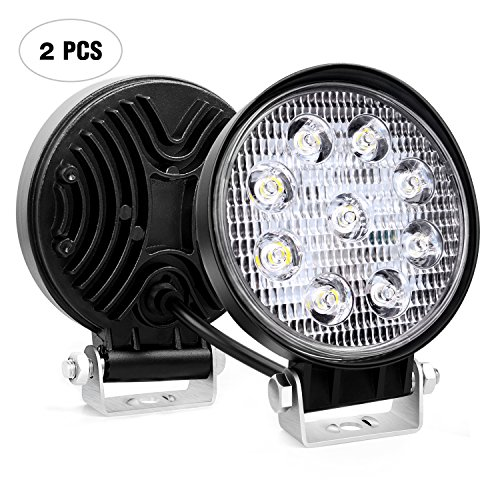 Nilight 2pcs 27 W Ronda Spot LED Light Bar conducción lámpara Impermeable Jeep Off Road Niebla Luces…