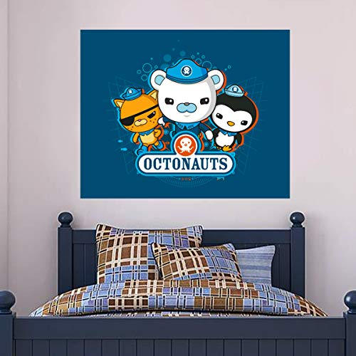 Octonauts Wall Sticker 3 Characters Group Bubbles Poster OCT012 Decal Mural Kids Bedroom Art (60cm Width x 50cm Height)