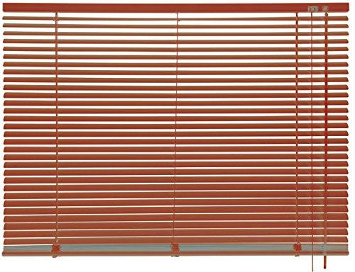 mydeco® 140 x 175 cm Aluminium Jalousie Terracotta; inkl. Bedienstab, Deckenträger + Befestigungsmaterial Innenjalousie Sonnen- und Sichtschutz; fein regulierbar