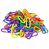 "SunGrow Plastic Chain Links, 1.4"" x 0.5"",..."