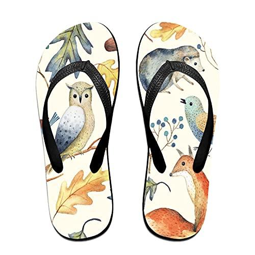Sandales unisexes minces à bascule,Feuilles d